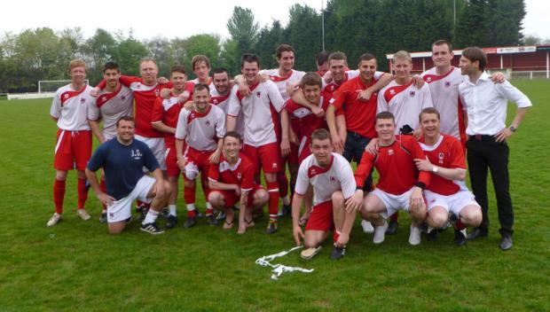 SPECIAL MOMENT: Guisborough celebrate promotion to Division One of the Northern League in June 2011