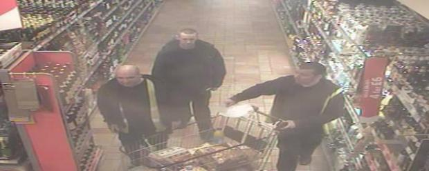 GROCERY THEFT: These three men are being sought in connection with a theft from Morrisons, Barnard Castle.
