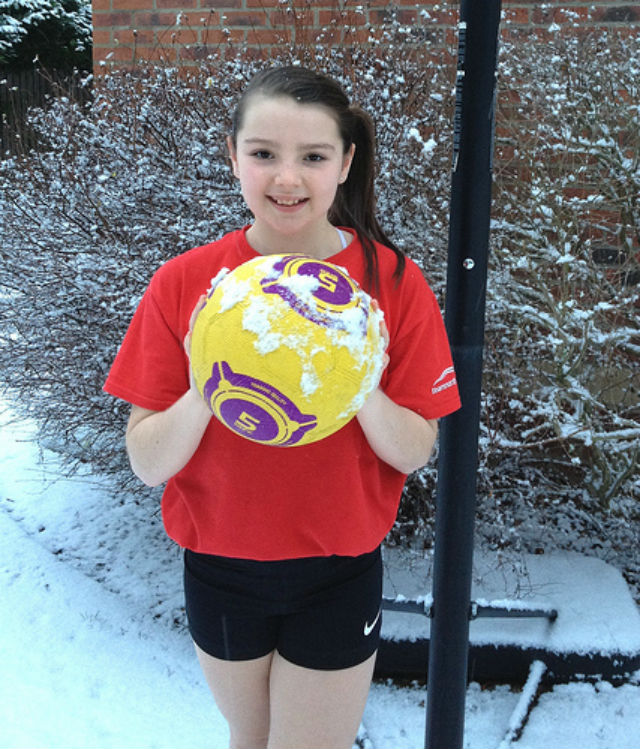 Caitlin Keenan, pupil at Polam Hall School, now keen to start training at the South Durham & Cleveland Regional Netball Academy.