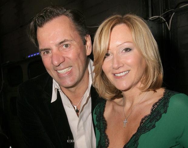 Darlington and Stockton Times: HAPPIER TIMES: Duncan Bannatyne and ex-wife Joanne McCue