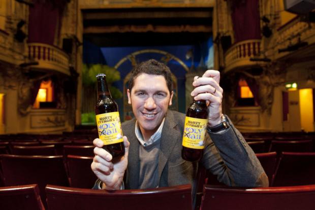 POPULAR: Jo Theakston, marketing director at the Black Sheep Brewery, at the Playhouse Theatre with the Monty-Python inspired ale that has been a hit