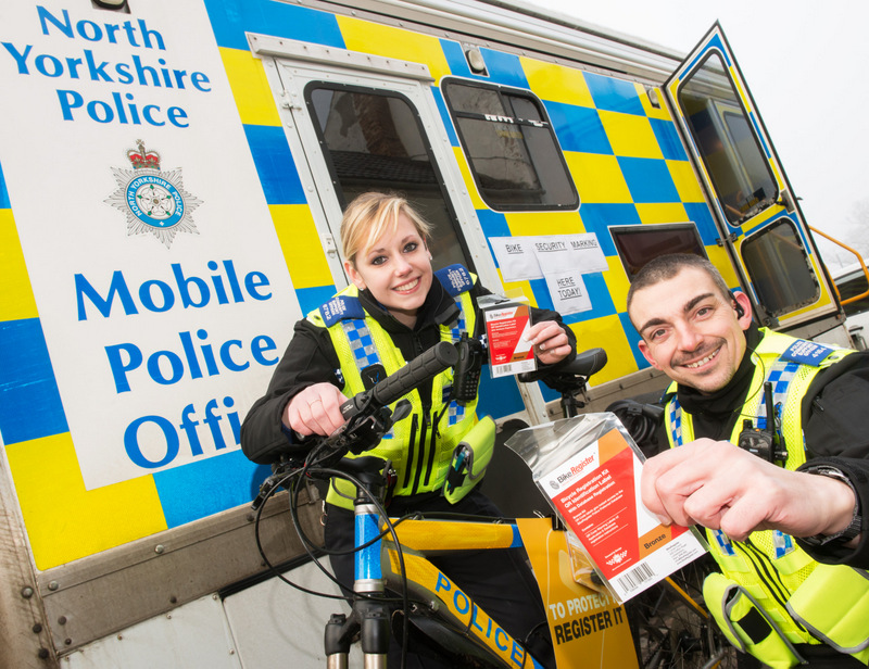 MARK IT: Police Community Support Officers Heather Macpherson and Bryan Tongue pr