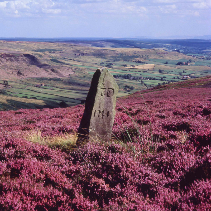 COLOURFUL: The standing stone above Rosedale, as featured in Discover the North York Moors by Roger Osborne