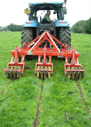 "BEST PRACTICE: Removing soil compaction by sward lifting will be one of the topics discussed at the ""Bottom Up Grass Production"" event in Leyburn"
