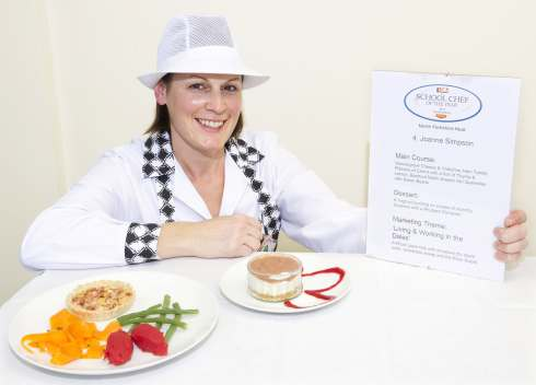 Joanne Simpson with her winning farmers' dish.