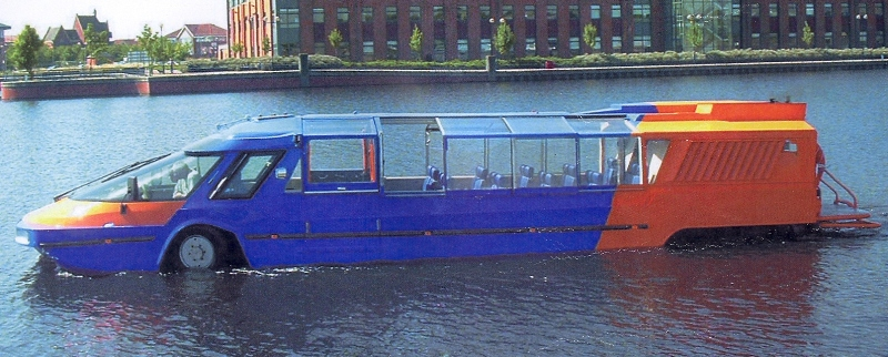 HOPE FLOATS: A prototype amphibious 25-seater Jetbus designed and developed by Gainford businessman David Royle.