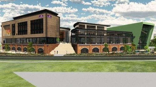 CINEMA PLAN: An artist's impression showing how the proposed £30m Feethams Leisure development, in Darlington, could look