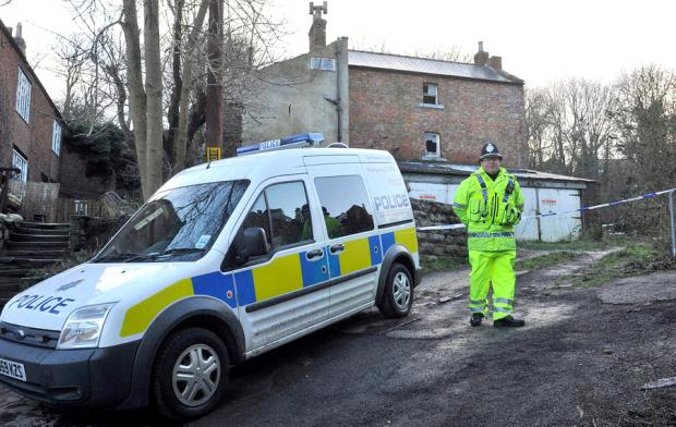 GRUESOME DISCOVERY: The scene where a decomposing body was found by a workman in Whitby