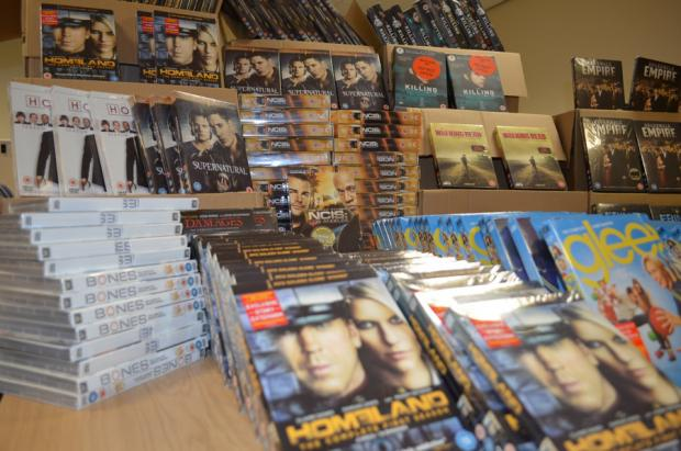 A selection of the DVDs seized in the raid