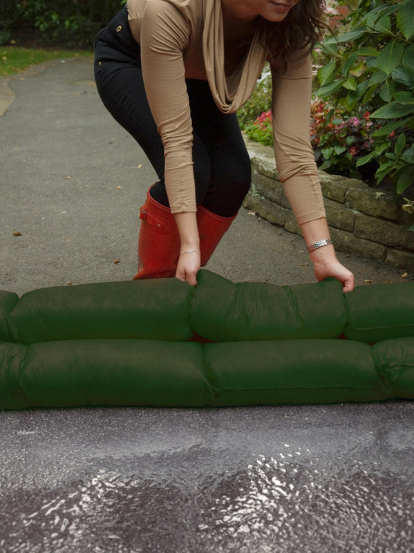 ALTERNATIVE: The Agricultural Flood Snake soaks up and stops flood water and is quick and easy to deploy