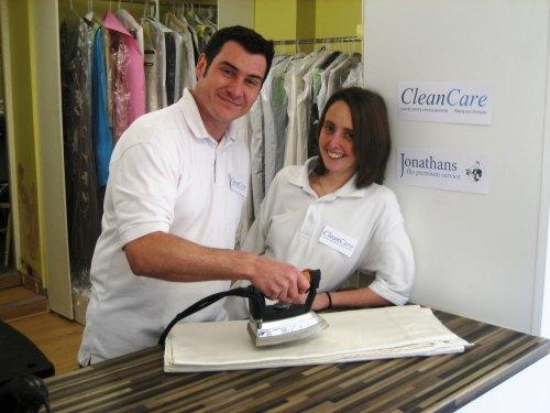 CLEANING UP: Gavin and Debbie Johnson, who run cleaning company Cleancare and have taken over rival firm, Jonathans