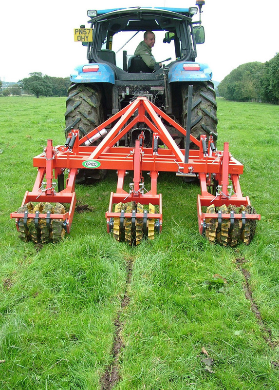 BEST PRACTICE: removing soil compaction by sward-lifting will be one topic discussed at the Bottom Up Grass Production event at Leyburn