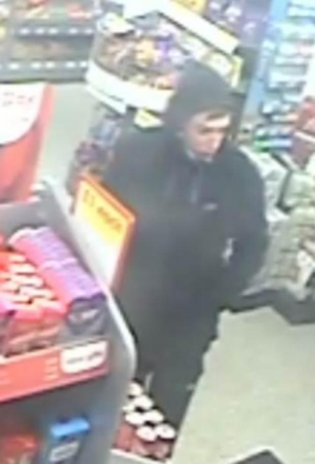 Police would like to speak to this man following an attempted armed robbery in Darlington