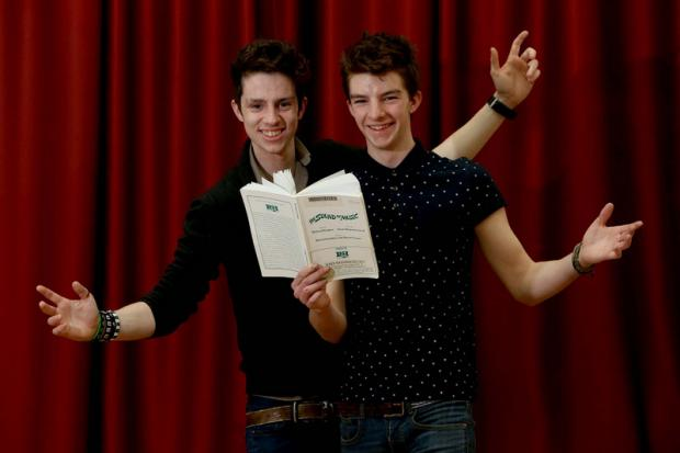BROTHERS OF CHARM: Brothers Joe, 19, left, and Ben Connor, 17, share the role of Rolfe