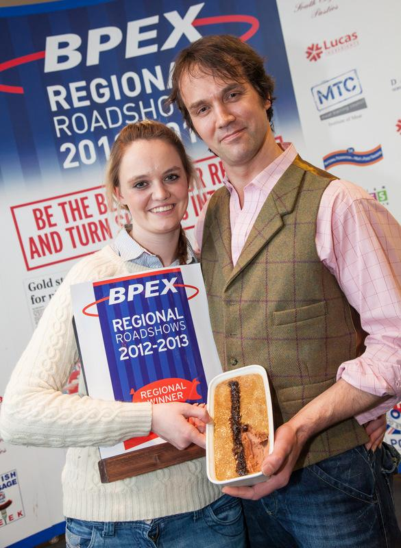 PROUD: Right, Charlotte Atkinson who won the overall title at the BPEX regional roadshow, with her father, Gordon.