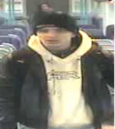 British Transport Police want to speak to this man after a train guard was threatened