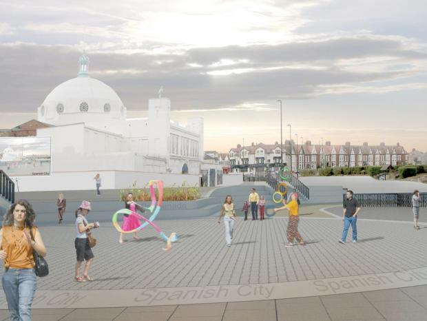 Darlington and Stockton Times: VISION FOR FUTURE: An artist's drawing of how Whitley Bay could look