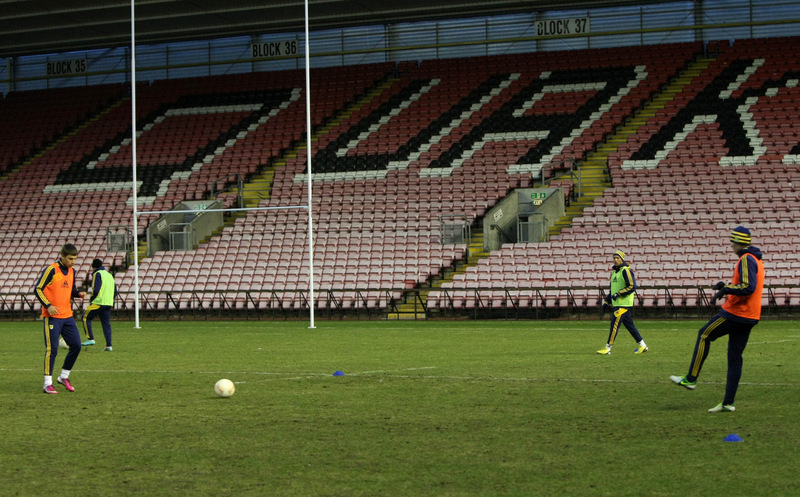 TRAINING SESSION: FC Metalist Kharkiv players at Darlington Arena