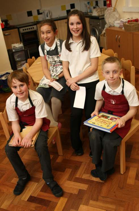 Pupils from Hurworth Primary School have been taking part in a Masterchef-style competition in recent weeks. Finalists, left to right; Sam Raine, 10; Hebe Baik, 9; Olivia Notman, 11; and Sam Johnson, 10.