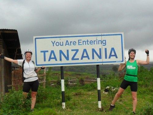 AFRICAN TRIP: Michelle Thompson, right, with Melanie Lancaster on their recent African challenge