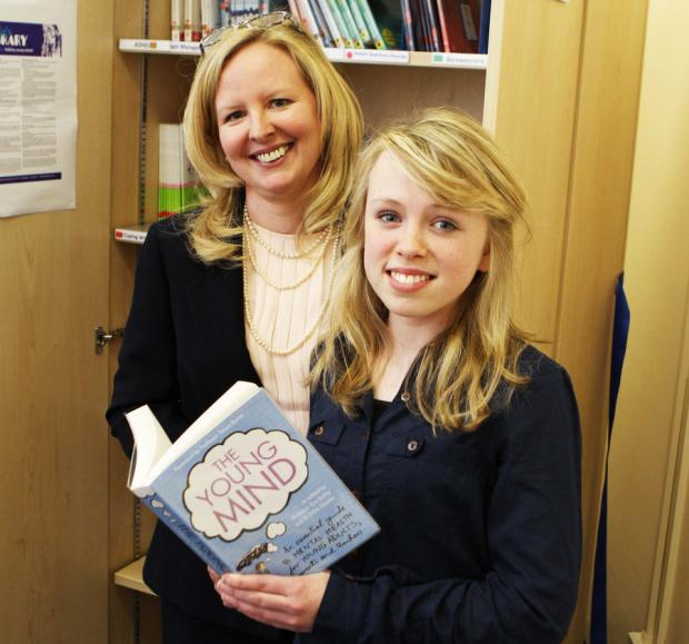 WELL READ: Caitlin Morrow, 15, and her mother, Lisa, open Caitlin's Library in the Mulberry Centre at Darlington Memorial Hospital