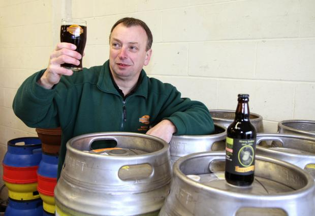 RAISING A GLASS: David Wall, of Wall's Brewery, with the Henry Jenkins inspired Longevity Ale