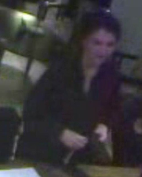 FRAUD SUSPECT: CCTV of the suspect in Cafe Rouge, Durham