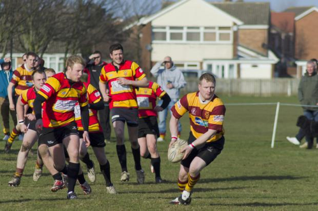 QUICK RELEASE: Action from the Seaton Carew versus Barnard Castle match on Saturday which ended in a 29-17 win for the home side at Hornby Park