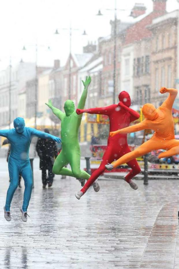 The lycra free runners in Darlington on Saturday