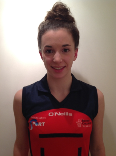 College student Fiona Dewar has won a place on an elite national netball team