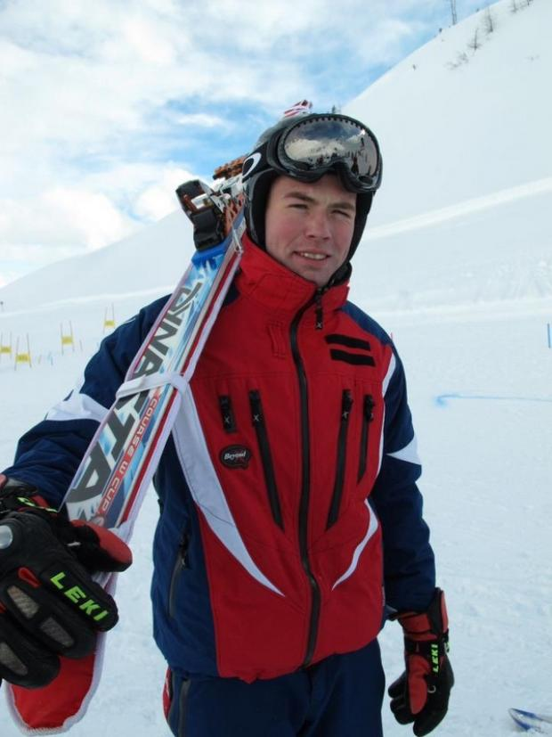 CHAMPION: Chris Stewart on the slopes in Austria
