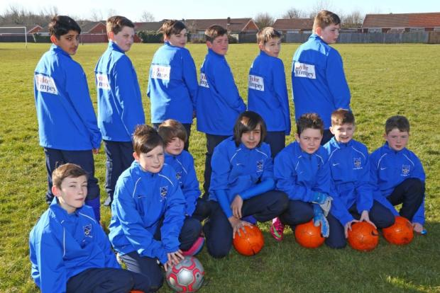 Thornaby and Ingleby Barwick Football Club show off their new kit