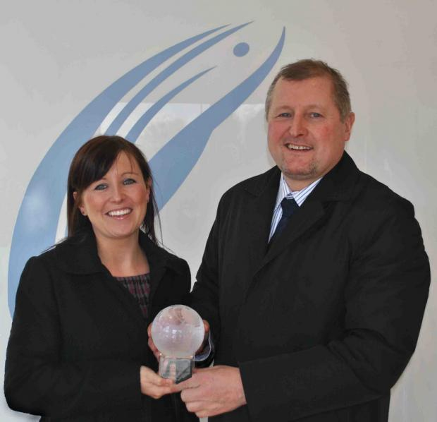 FOOD: Claire Swinbank and Richard Collins of Collins Seafood with their award