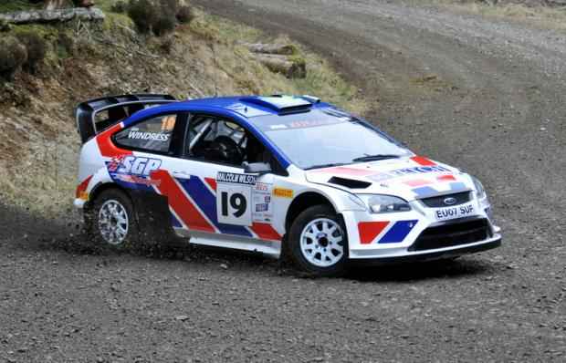TOP SIX PLACING: Stephen Petch and Ian Windress in action in their Ford Focus WRC during the Malcolm Wilson Rally