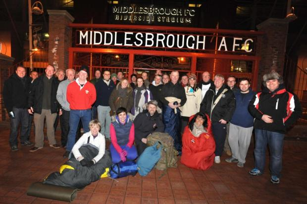 Business leaders sleep rough to help the homeless