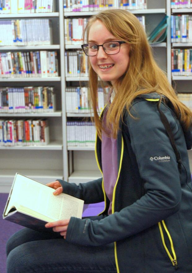 Lizzie Aumonier, winner of the Poetry by Heart competition at QE Sixth Form College