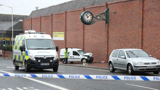 Police at the scene of major road accident in Darlington