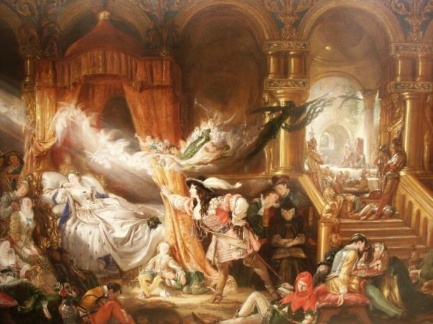 The Sleeping Beauty – an oil-on-canvas by Daniel Maclise (1806-1870) will be on display at the Gray's Exhibition at Hartlepool Art Gallery