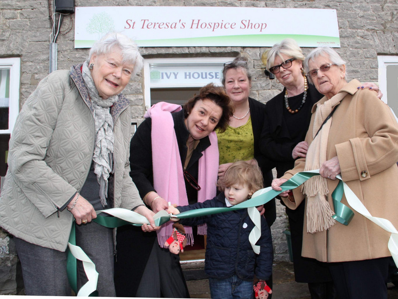 RIBBON: Hector Orde-Powlett and Lady Bolton open the St Teresa's Hospice Shop in Leyburn accompanied by Marjorie McIntire, Lorna Clarkson and