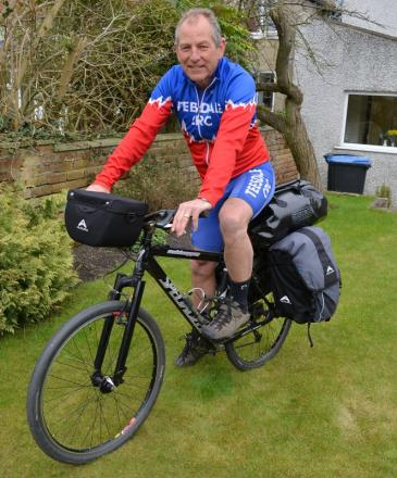 PEDAL POWER: Bob Murdoch is planning to cycle 2,500 miles to raise cash for Newcastle's Freeman Hospital