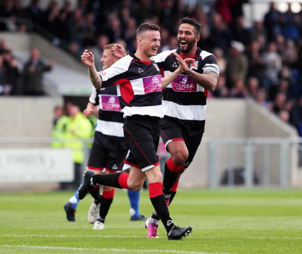 Darlington and Stockton Times: INJURED: Leon Scott, right, is unavailable
