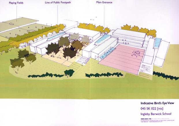 Artists impression of the proposed free school at Ingleby Barwick.
