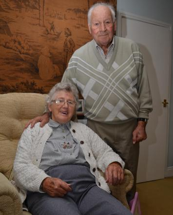 DIAMOND ANNIVERSARY: Pat and Tom Ellwood plant o celebrate 60 years of marriage with afternoon tea.