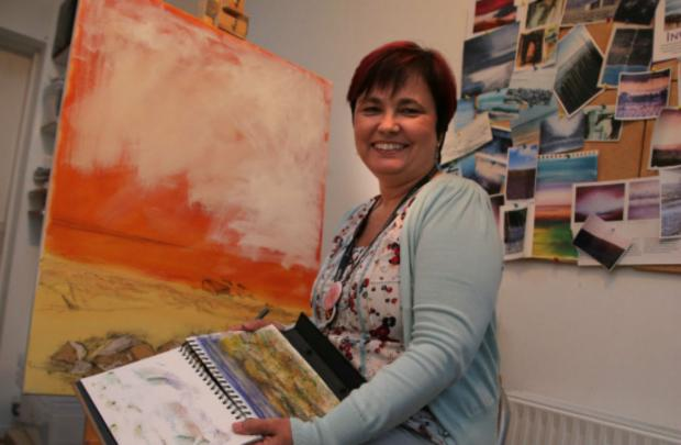 Artist Donna Slyfield, who will host a pop up art exhibition at Hurworth Grange on Sunday
