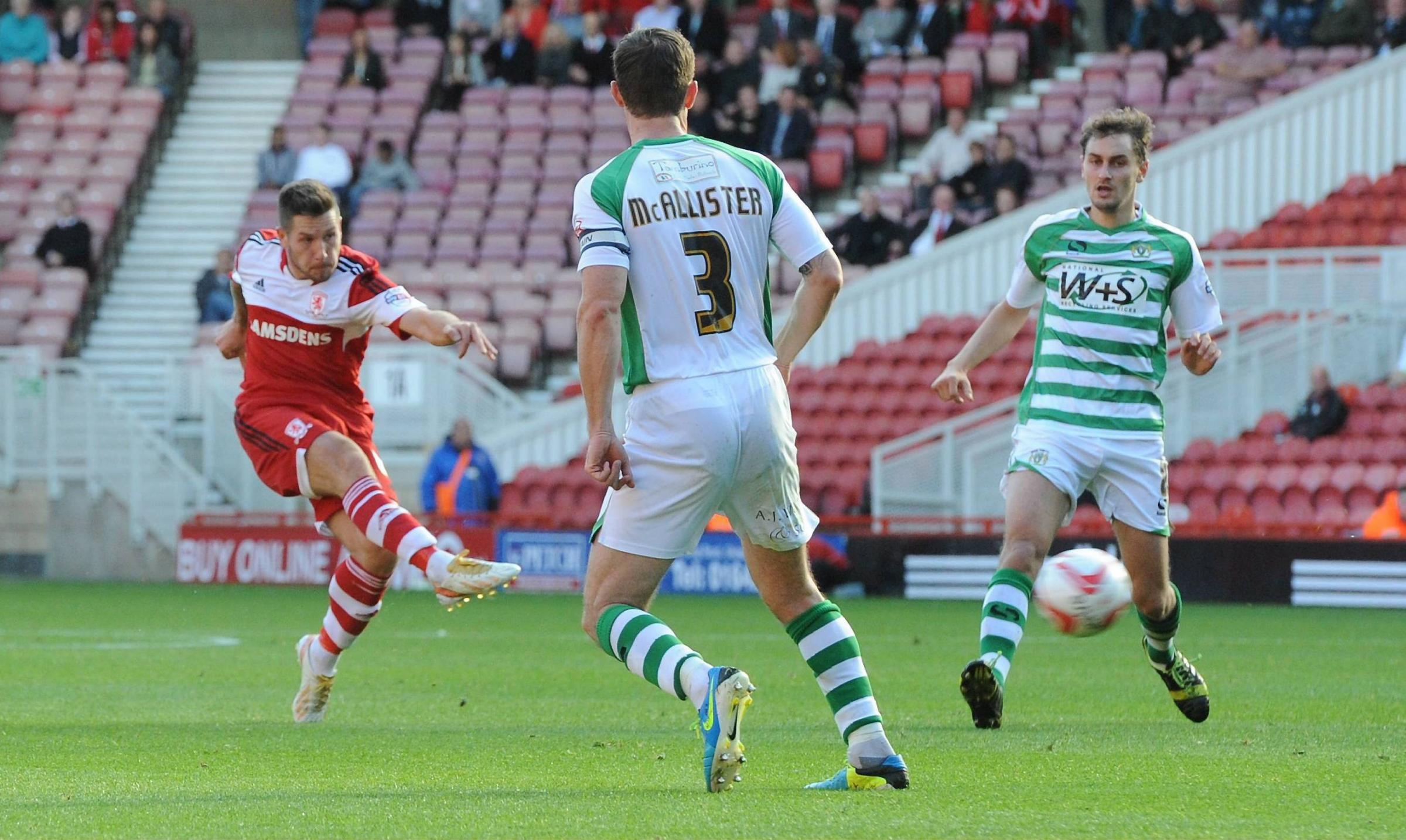 Happy man: Jacob Butterfield has been in and out of the side under Karanka