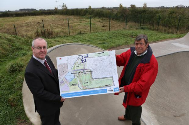Hambleton District Councillor Mark Robson, left, and Sowerby Parish Councillor Bill Austin with plans for some of the development at Sowerby. Plans for an extra care scheme at Sowerby have recently been approved
