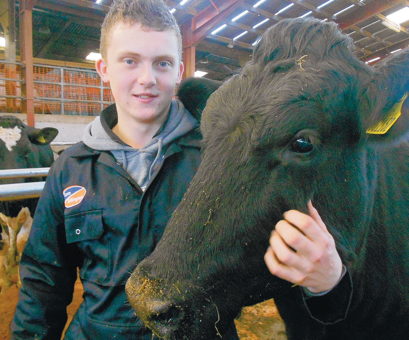 WELL DONE: European junior champion and Newton Rigg College