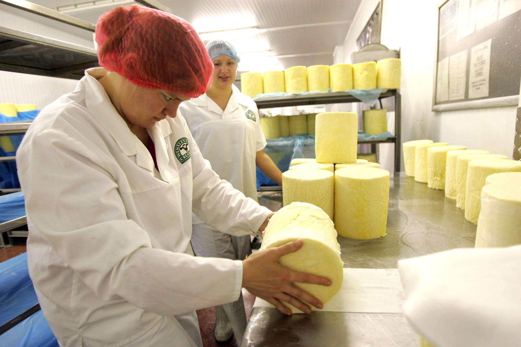 One of North Yorkshire's many local products, Yorkshire Wensleydale, being made at the Wensleydale Creamery, in Hawes. A food festival in Wensleydale has been celebrating artisan producers