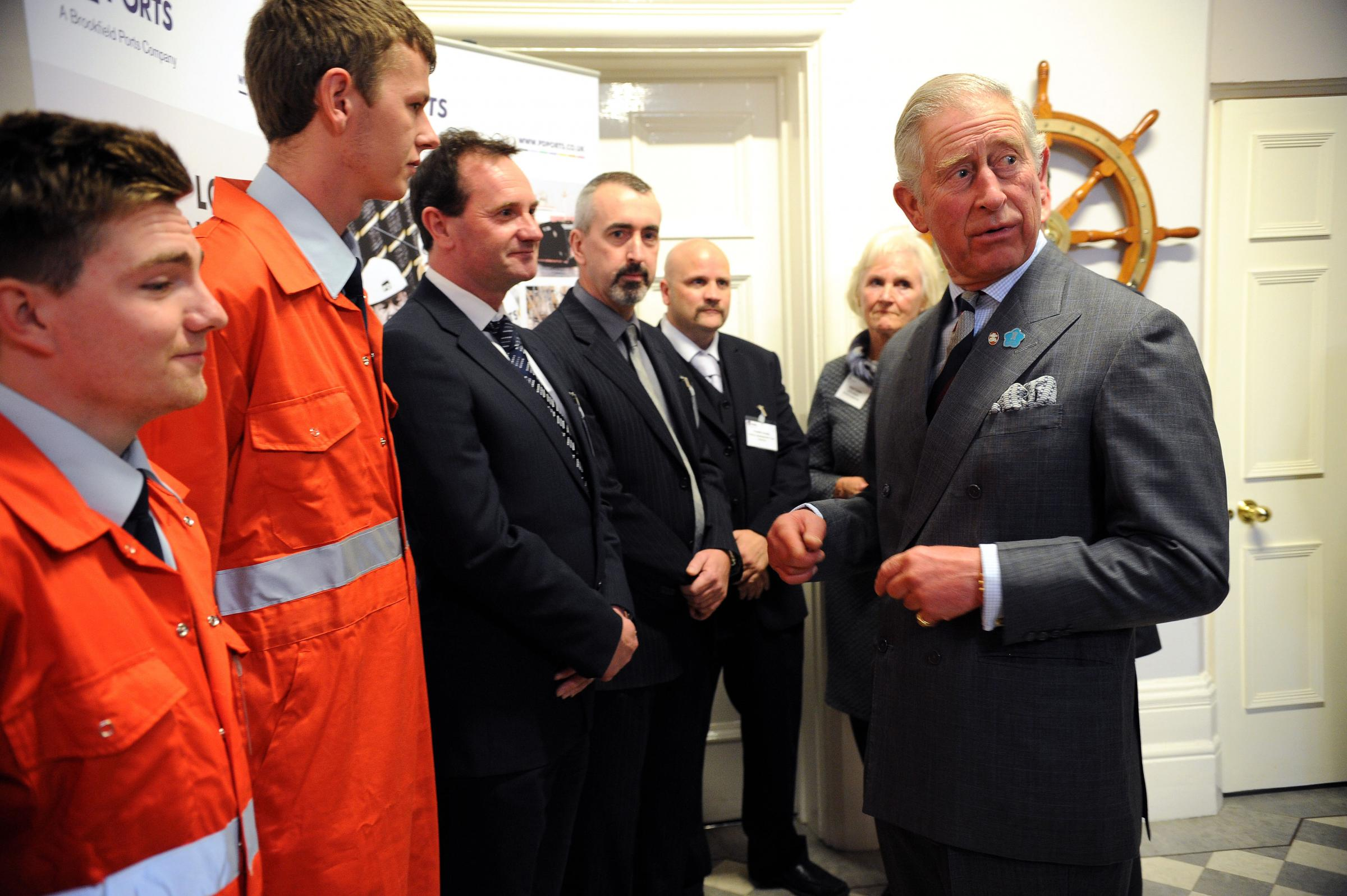 Prince Charles during his visit to PD Ports in November.