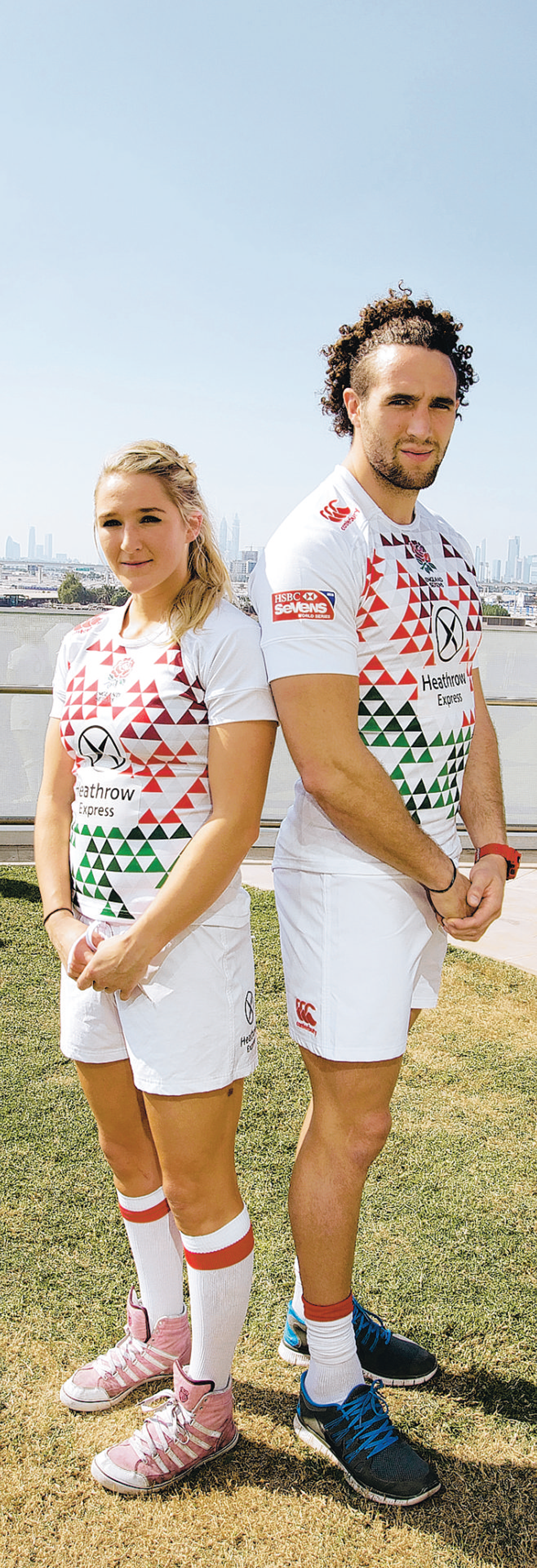FAMILY AFFAIR: Mike and Megan Ellery will both represent England in the Dubai Sevens
